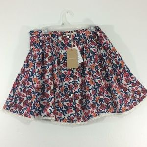 NWT Springfield cream with floral pattern skirt-4